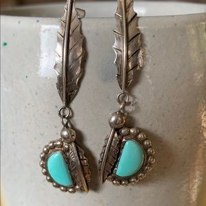 Vintage Sterling and Turquoise Earrings